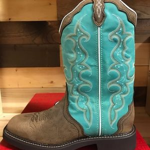 Justin women's Turquoise Cowboy Boots